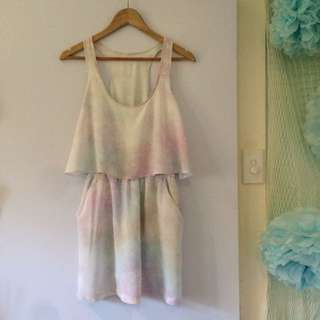 Pastel Ruffled Dress