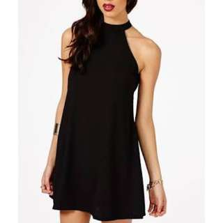 Missguided black Halterneck Shift Dress