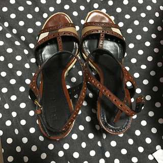 Burberry Wedge Sandals Size 36
