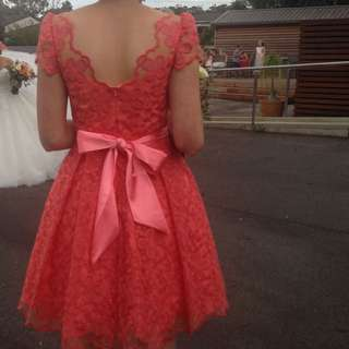 Peach Dress Lace