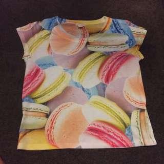 Macaroon Print Shirt