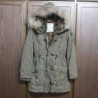 日本帶回,超保暖可拆式軍裝外套-M號