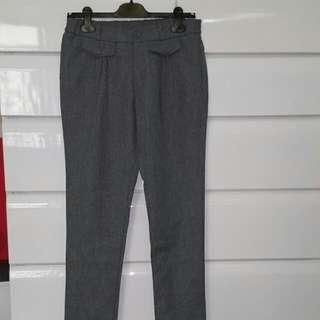 灰色上班正式可穿長褲9分褲