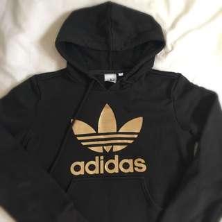 Adidas Original Black Hood Gold Trefoil