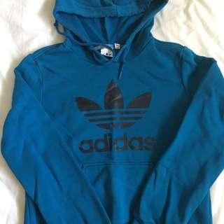 Adidas Original Blue Hood Black Trefoil