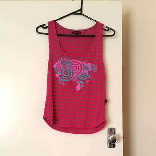 2fortheshow Magenta Striped Singlet