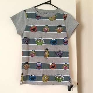 Jay Jays Sesame Street Grey Tshirt