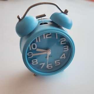 Blue Analogue Vintage Retro Alarm Clock