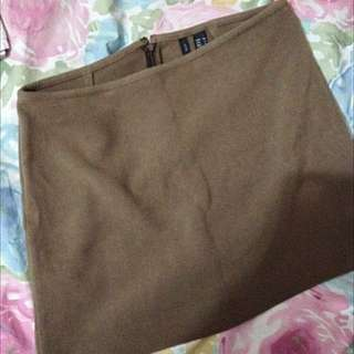 Mango Pencil Skirt (brown)