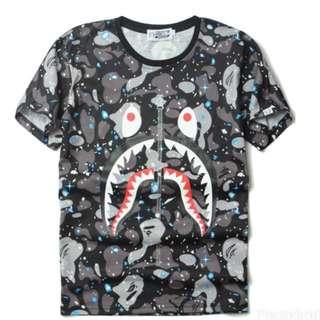 BAPE Shark Face Space Tee
