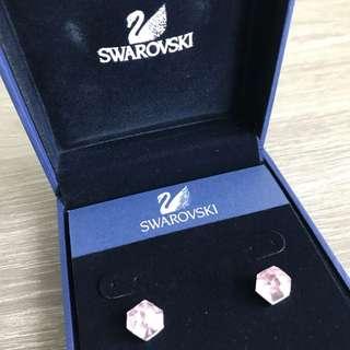 Genuine Swarovski Points Of Light Pink Earrings