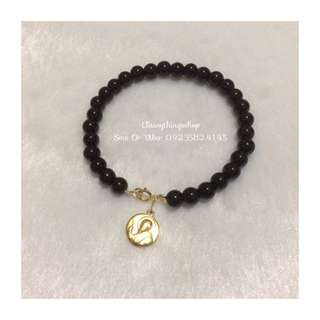 Onyx Stone With St. Benedict Mini Medal