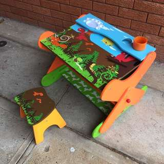 3 Ways Kid's Table, Easel And Larger Table