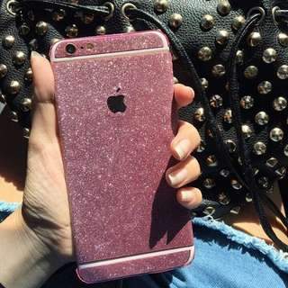 Glitter skin untuk iphone 5/5s/5se 6/6s 6plus/6splus