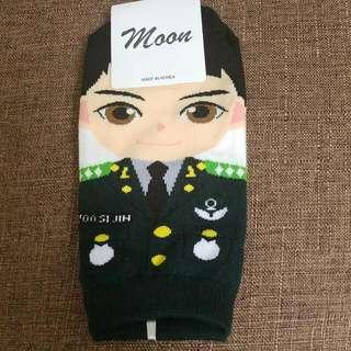 韓國太陽的後裔圖案短襪
