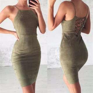 Halter Neck Strappy Bodycon Dress