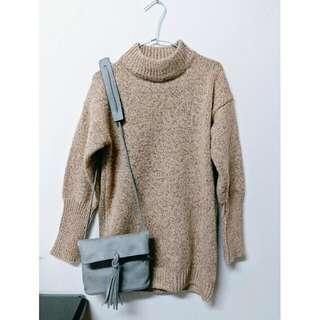 (含運)奶茶色針織毛衣