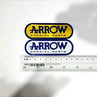 Arrow metallic exhaust decal/sticker