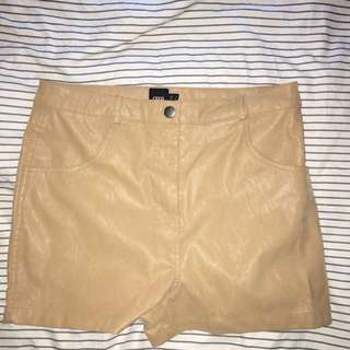 Brown Leather ASOS Shorts
