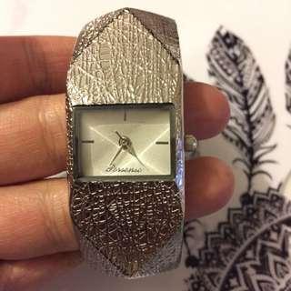 Silver Bangle Watch