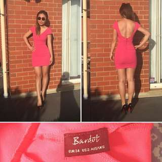 Bardot Size 6 Pink Dress