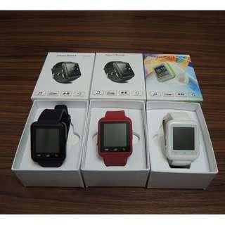 【出售】全新 Smart Watch U9 智慧型手錶 跑步計步器 睡眠監測 遠端通知 接/打電話 小米手環 手環 手機 伴侶 計步器 (紅/白/黑 各一支)