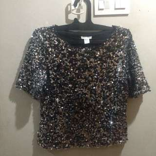 Hnm Sparkly Blouse