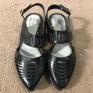 Melissa & Jason Wu Black Sandal Shoes