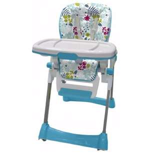 Bubbles Adjustable High Chair (Garden Blue)