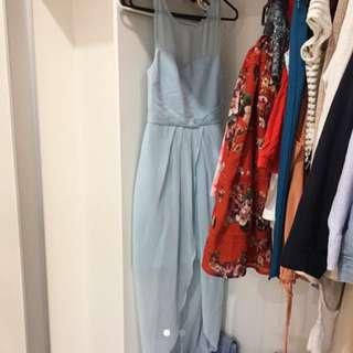 Forever New Size 6 Blue Formal Dress