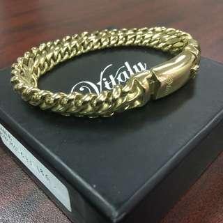 Vitaly Gold Tone Plate Bracelet