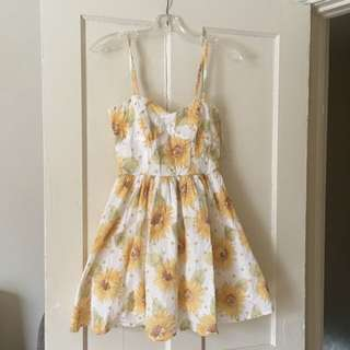 Quirky Circus Sunflower Dress