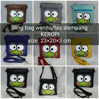 Sling Bag/tas Slempang Keropi Wanita/cewek/remaja