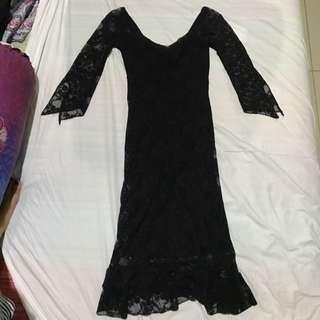 BLACK LACE DRESS BY ORANGE