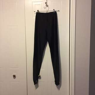 Women's Black Skating Tights (Size M)
