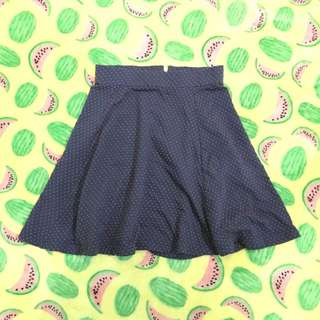 Polkadot Pink Blue Mini Flare Skirt Luna Maya Hardware