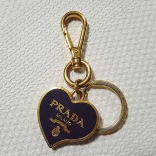 Prada Heart Viola Keyring