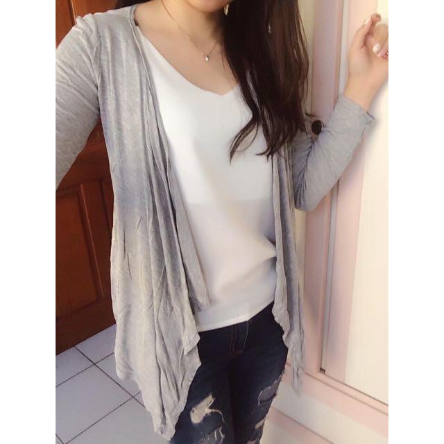 棉質開襟薄罩衫
