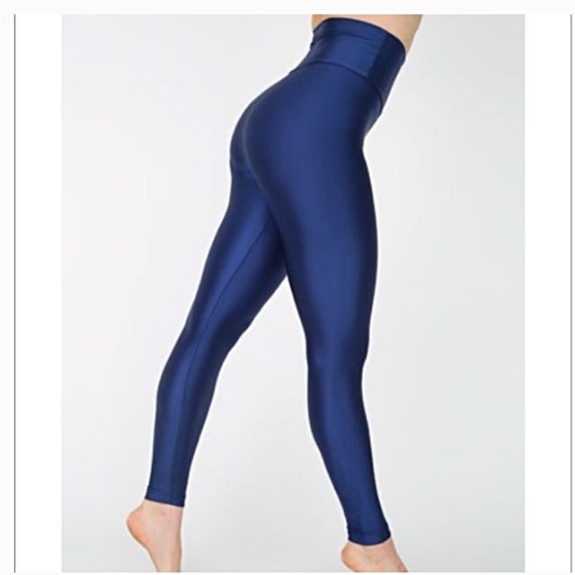 American Apparel Leggings Blue Nylon