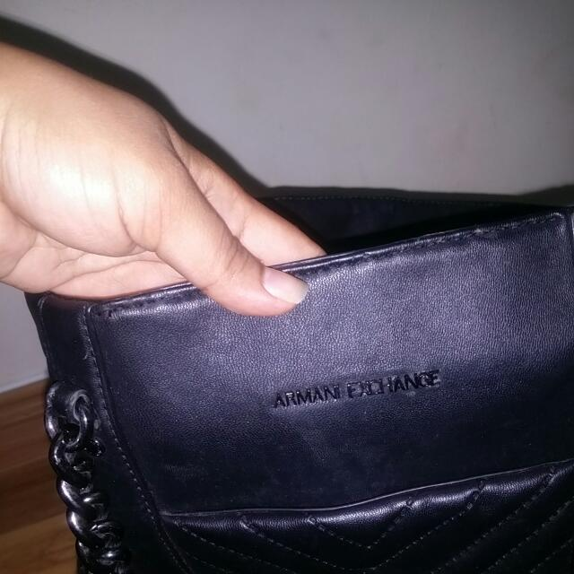 012b4705abc Armani Exchange Bag   Chain Handle, Women s Fashion, Bags   Wallets on  Carousell
