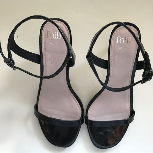 ASOS Black Barely There Sandals