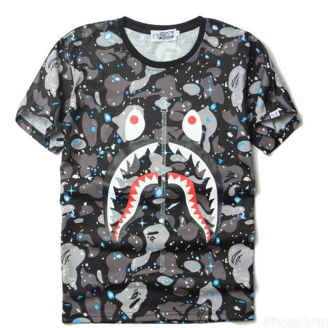BAPE Shark Face Space Tee