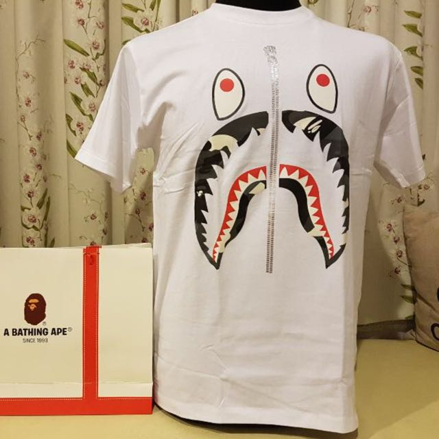 BAPE Shark Face Zip Tee