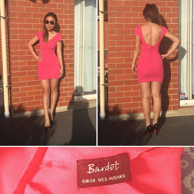 Bardot Size 6 Pink Dress