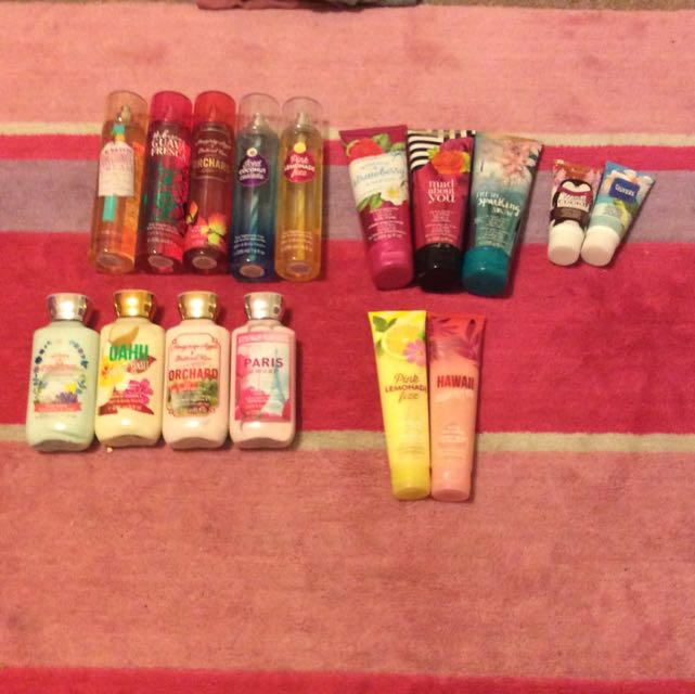 *PRICE DROP BATH AND BODY WORKS MISTS LOTIONS, AND MORE