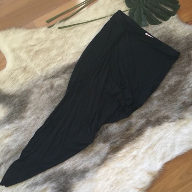 Black Drape Skirt Size 14
