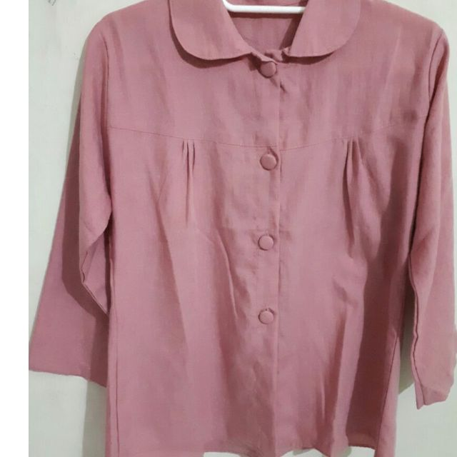 blouse katun dusty pink