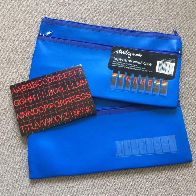 Blue Pencil Case Or Pouch