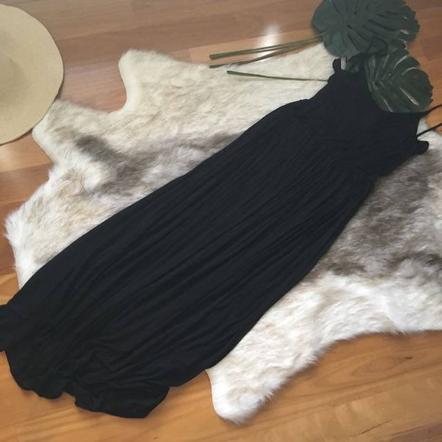 BNWT H&M Black Cotton Maxi Size L