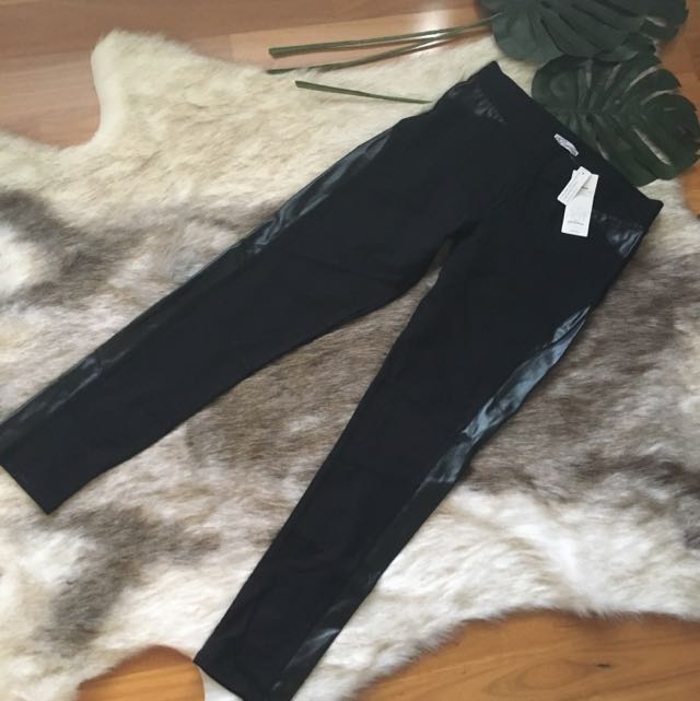 BNWT Leather Panel Ponte Pants Size 14